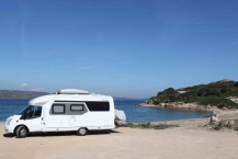 "Corsica beach N41*24'56,6"" E09*14'16,5"" and freeparking"