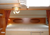 Double bed in alcova 1,6*2,1m