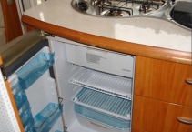 The fridge Thetford 112l  with a separate freezer 14l